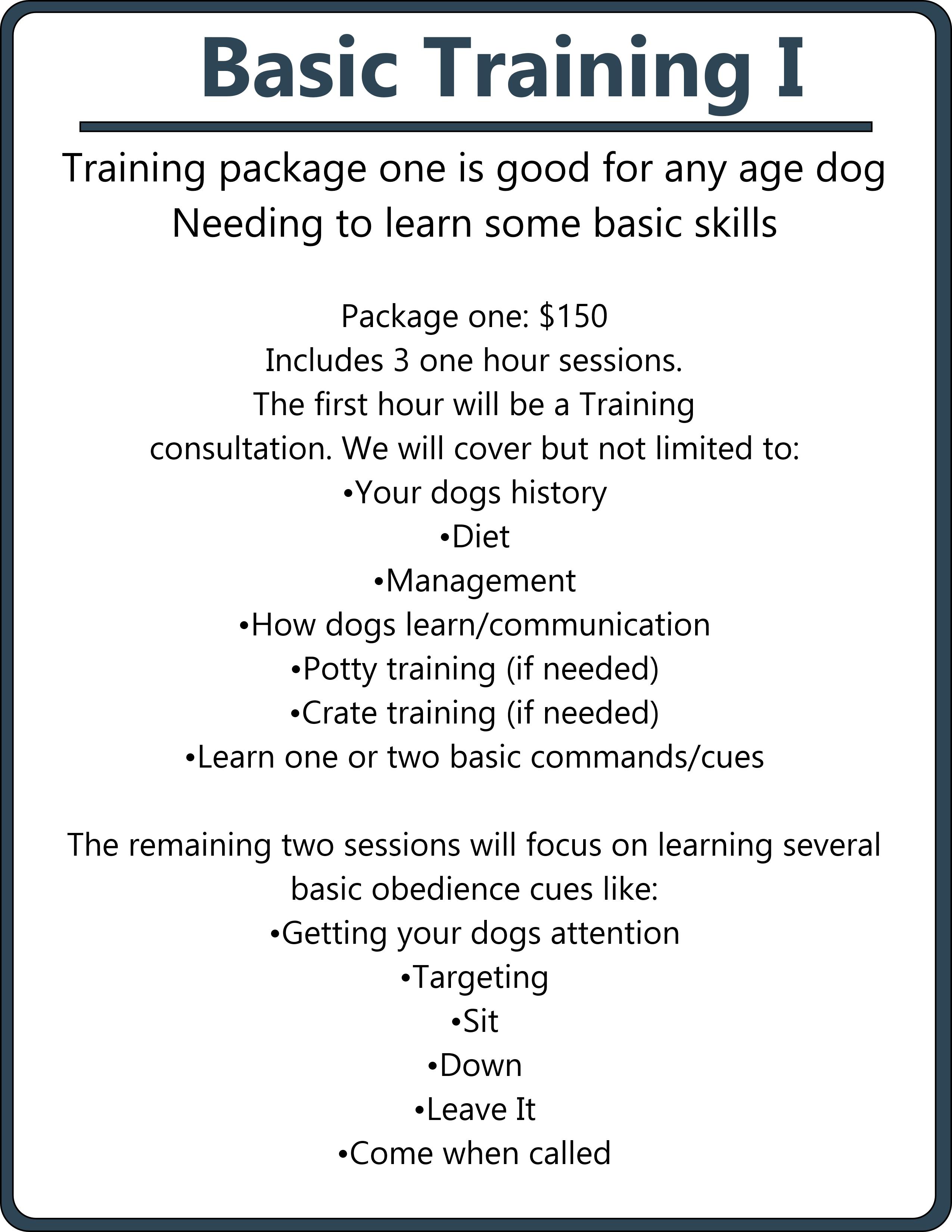 basic training I package