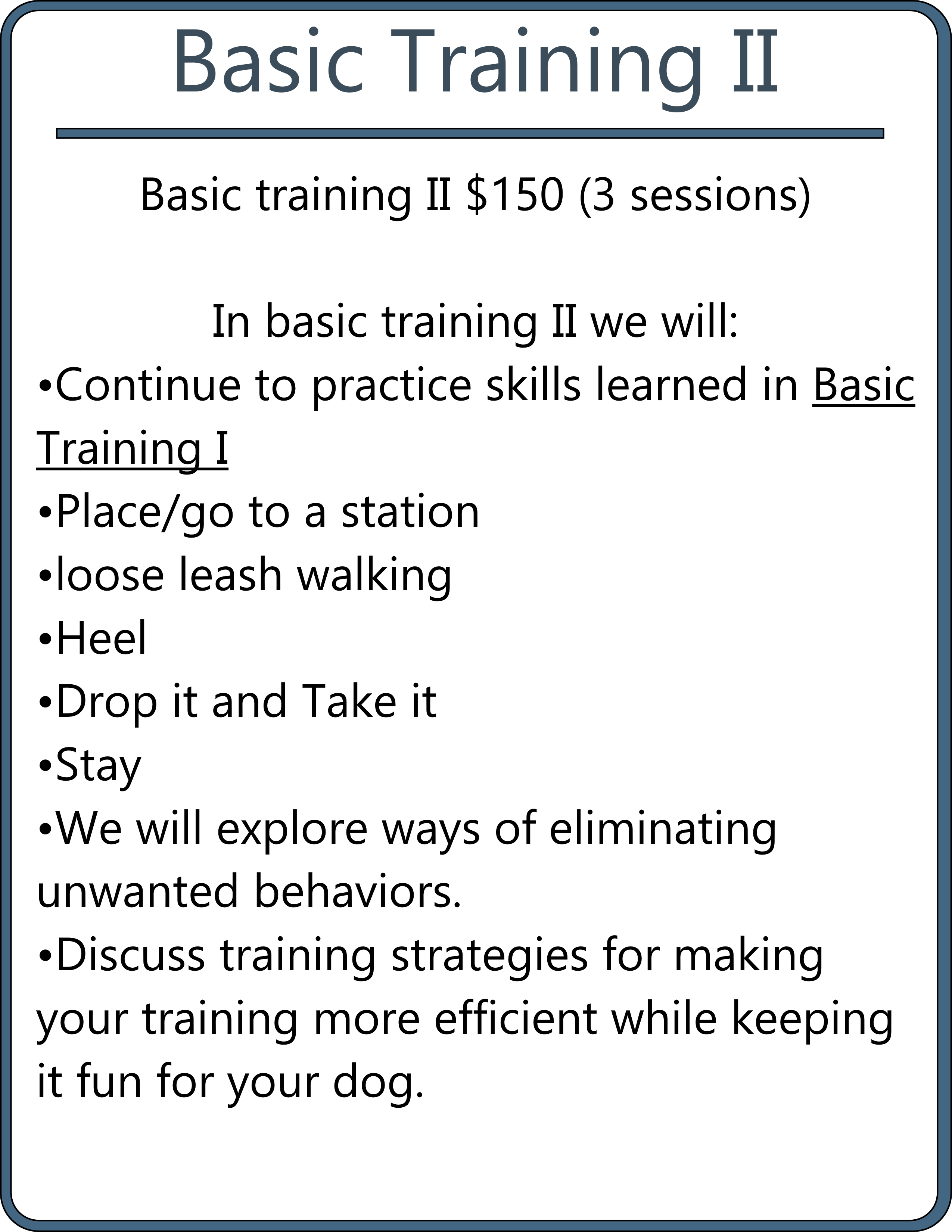 basic training II